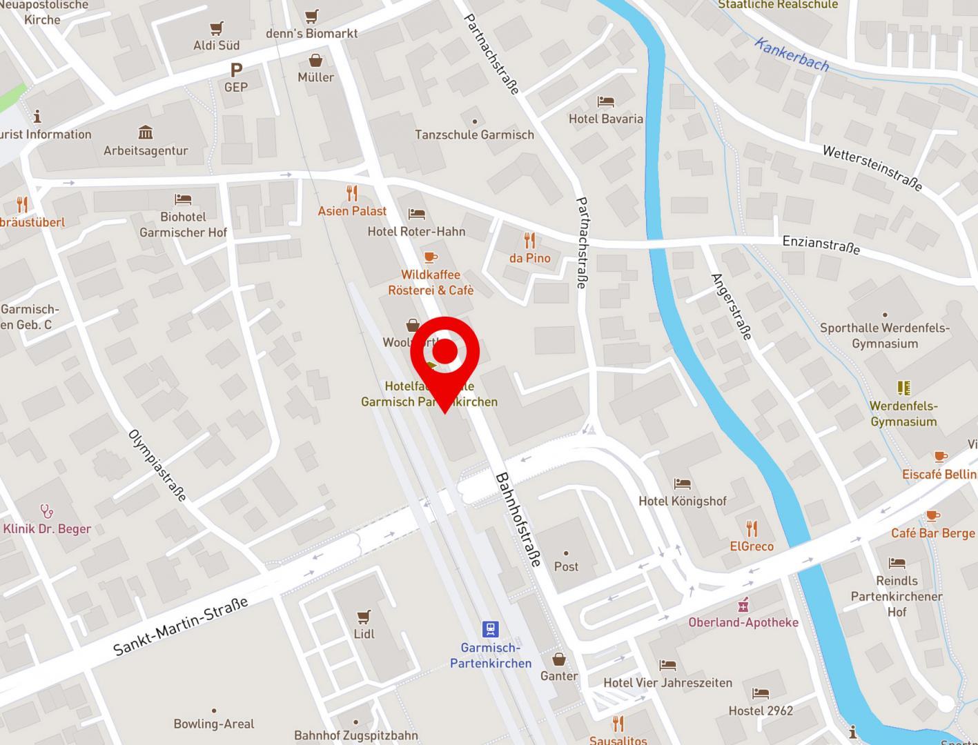Karte Jobcenter Garmisch-Partenkirchen